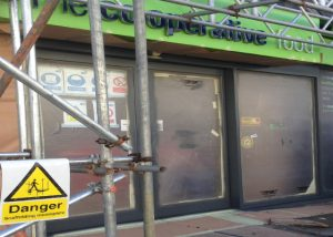 shop front spraying Plymouthshop front spraying Plymouth