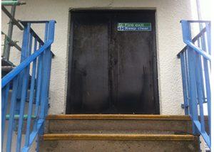 Fire Exit Door spraying TSB Birmingham