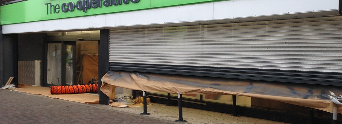 shop front spraying Newport Pagnell