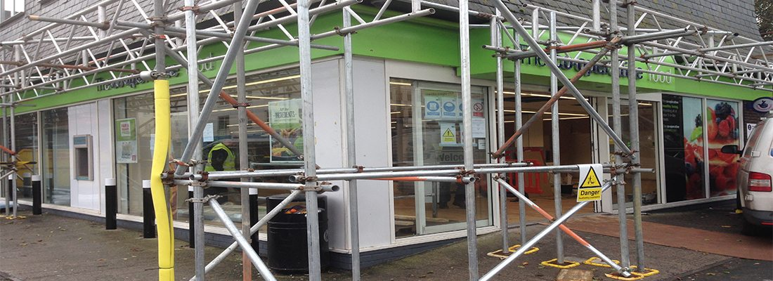 shop front spraying Plymouth