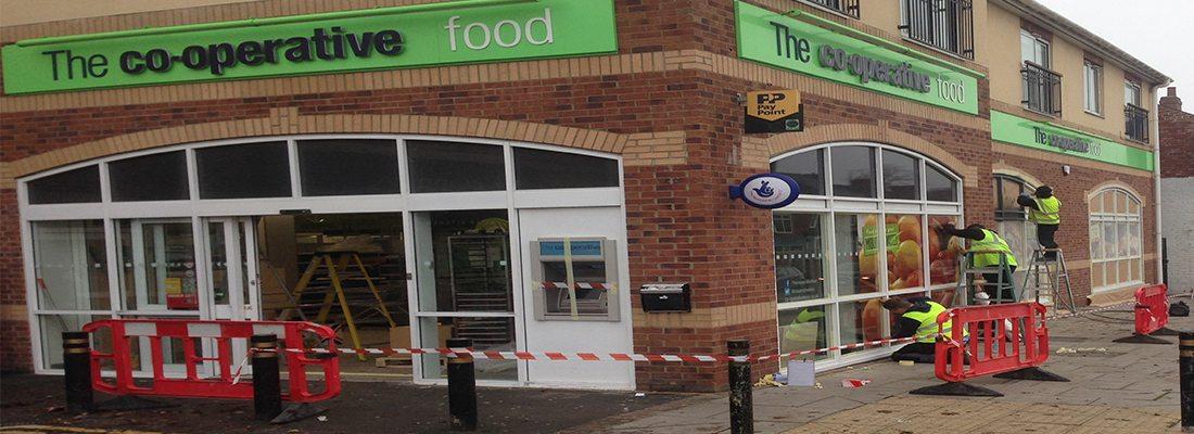 Shop Front Spray COOP Darlington