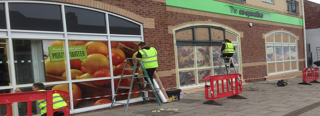 Shop Front Spray COOP Darlington