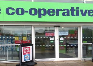 Shop Front Spraying COOP Bwyd