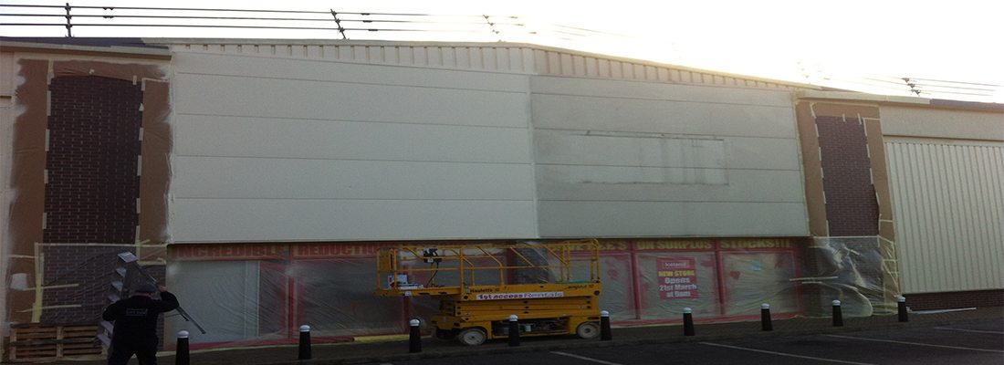 Shop Front and Cladding Spraying Doncaster