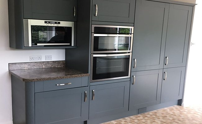 Kitchen Cabinet Respraying In The Uk, Is It Ok To Spray Paint Kitchen Cabinets